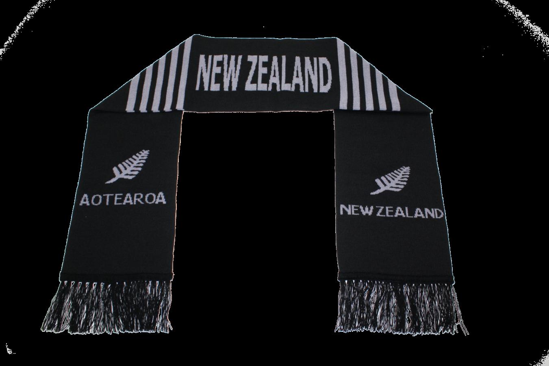 Kiwiana NZ Black Scarf